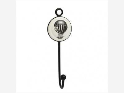 Colgador deco IXI baloon ceramica metal 14 cm.