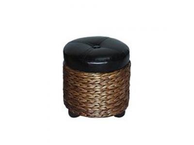 Asiento baúl pequeño con tapa D32 x 33 cm en fibras