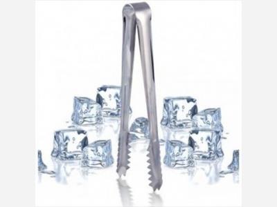 Pinza para hielo acero inoxidable 17 cm.