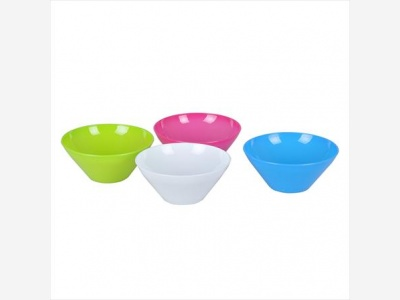 Bowls conico 400 ml. plastico.