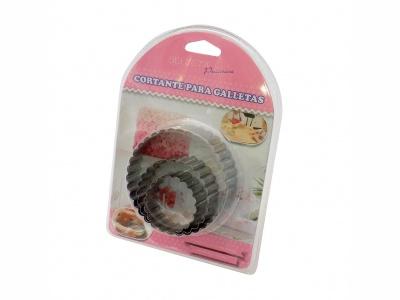 Cortante Galletas Circular Set x 3 piezas.