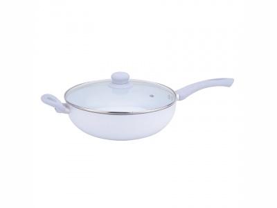 Sarten wok ceramico con tapa Verona Diámetro 28 cm.