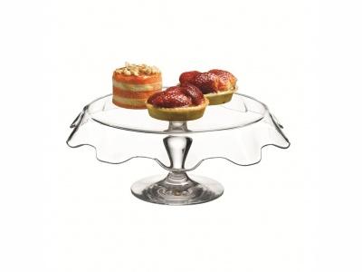 Plato de torta 32.2 cm con pie Patissier Pasabahce