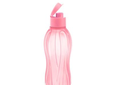 Botella Plástica con Tapón 800 ml Rosada.