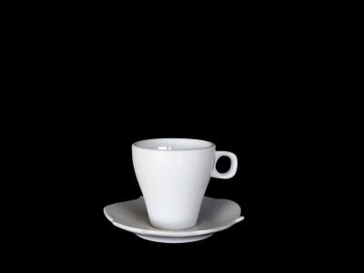 Taza café con platillo 90 ml. set x 6 unidades