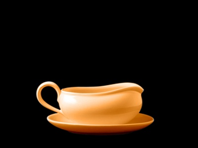 Salsera Clasica 500 ml. Naranja Olmos.