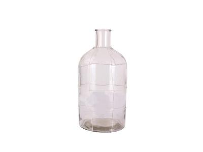 Botella para Decoración Vidrio Incoloro 34 cm alto.