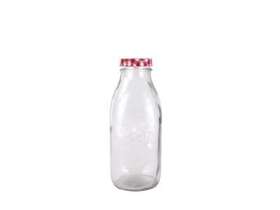 Botellas para Jugos con Tapa Metal 1 Lt.