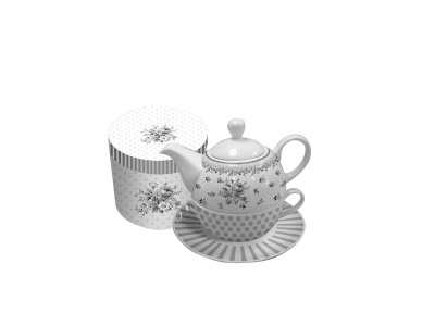 Set de Té Tea for One. 450300 ml Flower Deco.