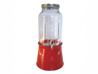Dispensador de agua 5 lts leyenda ¨1899¨ con base roja.