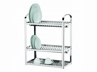Escurridor de platos 3 niveles 40 platos Brinox.