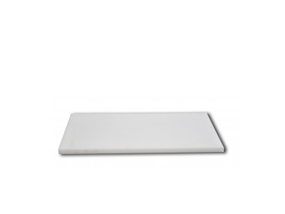 Tabla de picar de nylon. 60 x 40 x 1.4 cm.