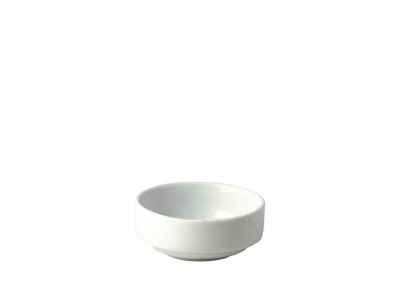 Ramequin redondo D 7 x 3 cm altura cerámica blanca.