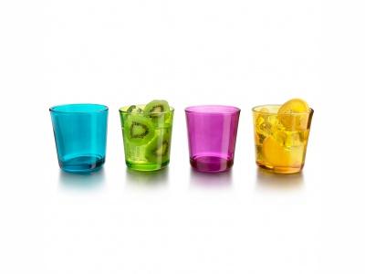 Vasos set x 8 unid 384 ml colores Crisa.
