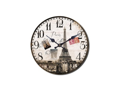 Reloj de pared diseño Paris Vintage.