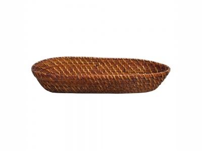 Bandeja Oval bamboo rattan 44 x 19 x 7.5 cm.