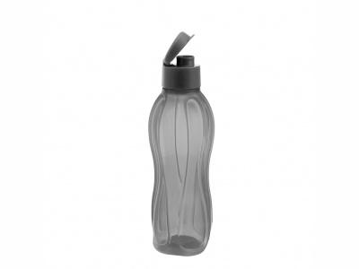 Botella Sport plásticas con tapón 800 ml Negra.