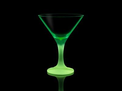 Copa martini luminosa verde 190 cc Pasabahce.