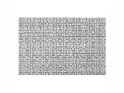 Mantel individual sintético 30 x 45 cm. blanco y negro