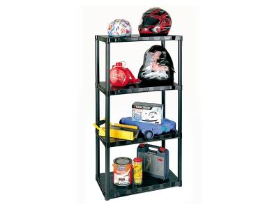 Rack plástico 4 estantes. 70 x 38 x 1.38 mts.