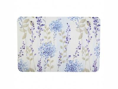 Mantel Individual 30 x 45 cm. material PP Flores azul claro