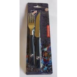 Cuchillo y tenedor Tramontina set de nacional