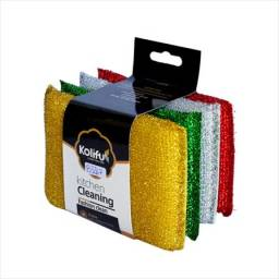 Esponjas Metalizada 4 Colores Pack x 4 Unidades
