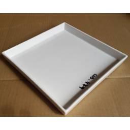 Fuente Bandeja Plato 28 x 28 cm Ceramica Goldsky