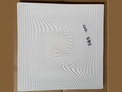 Fuente Bandeja Labrada Ondas 31 x 31 cm Ceramica Goldsky