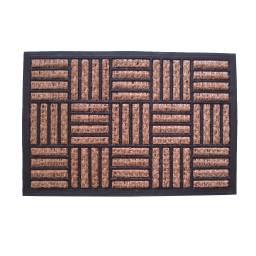 Alfombra felpudo coco y goma 40 x 60 x 1 cm. rallas
