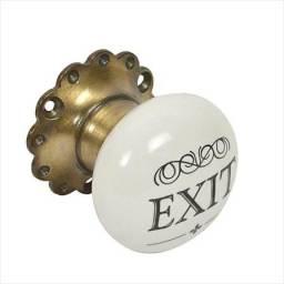 Tirador para puerta  Exit ceramica metal.