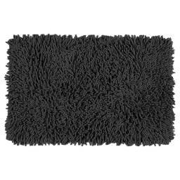 Alfombra Baño Shaggy Negra 60 x 40 cm