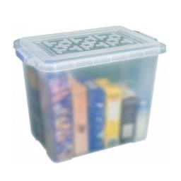 Caja Plástica Organizadora 40 x 26  x 32 cm. Transparente.