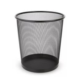 Papelera basurero cónico metal negro