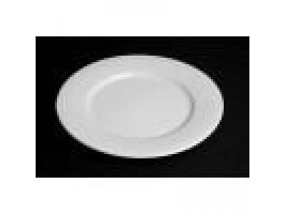 Plato llano 23cm ceramica blanca con averia