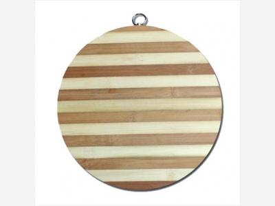 Tabla Bamboo redonda para picar 34 cm