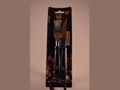 Cuchillo y tenedor Tramontina set de peñarol