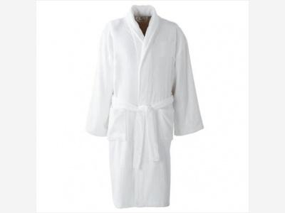 Bata blanca adulto Dolher 100 % algodón.