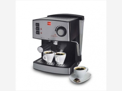Cafetera Cuori express con bomba de presion modelo Aroma.