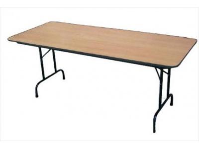 Mesa de conferencia 75x1.80cm madera compuesta cpatas de metal