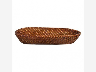 Bandeja oval bamboo rattan 44 x 17,5 cm