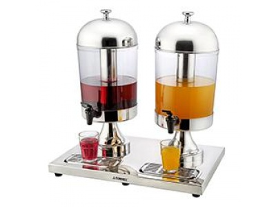 Dispensador de jugo doble 8 ltrs 54 x 36 x 55 cm Sunnex.