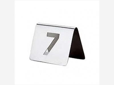Cartel de mesa 20 piezas del Nº 1 al 20.
