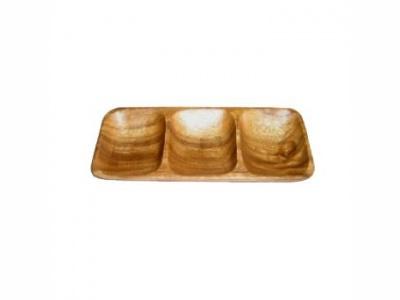 Copetinero rectangular madera 20 x 9 cm
