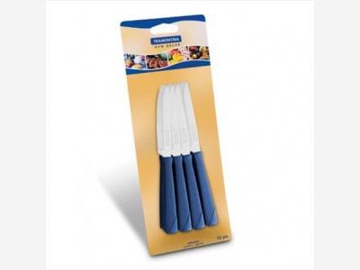 Cuchillo de Postre New Kolor Azul x 12 unidades Tramontina.