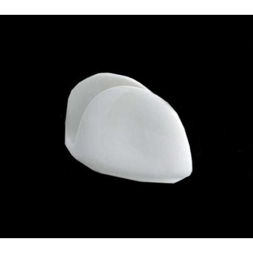 Servilletero en ceramica blanca