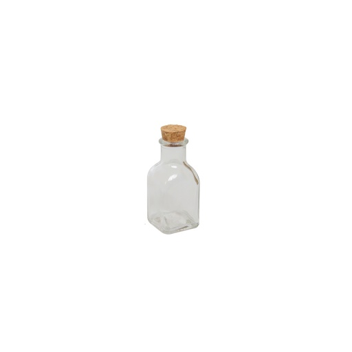Botella 50 ml tapa corcho set x 24 unidades goldsky
