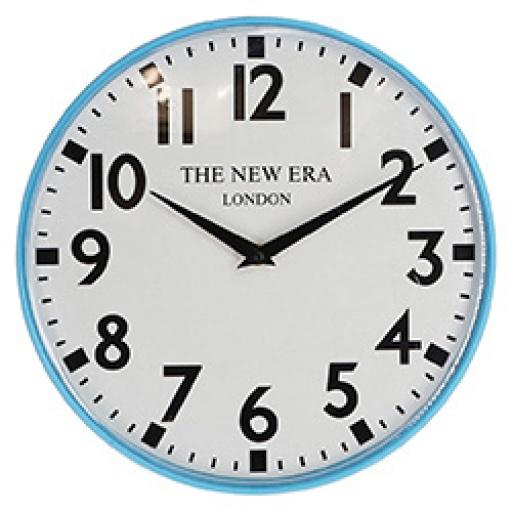 Reloj de Pared Hierro D 30.5 Cm. Celeste