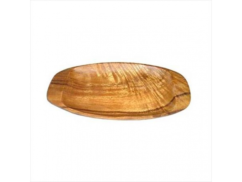Bandeja madera oval 30,5 x15 x 2,5 cm
