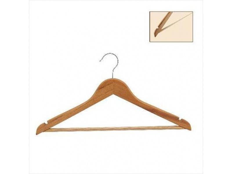 Percha de caballero madera  44 cm. gancho pequeño